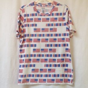 CITY STREETS USA Flag Front and Back Graphic Tee L